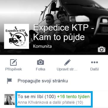 Na Facebooku již se 100 fanoušky